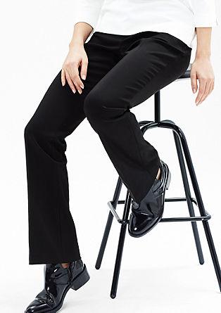 Sue slim: broek van katoen-satijn