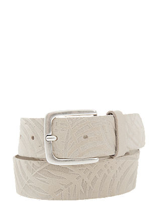 Suede belt with a palm tree pattern from s.Oliver