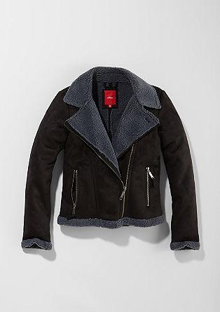 Suede-look biker jacket from s.Oliver