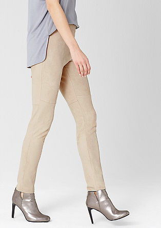 Suede-look leggings from s.Oliver