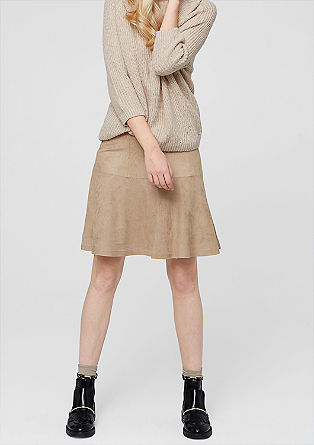 Suede-look skirt from s.Oliver