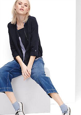 Suknjič-jakna s piqué strukturo