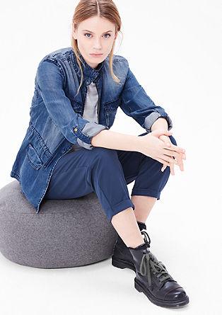 Suknjič-jakna v videzu jensa