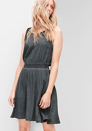 Summer dress with a lace yoke from s.Oliver