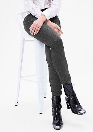 Super skinny: Stoere jersey broek