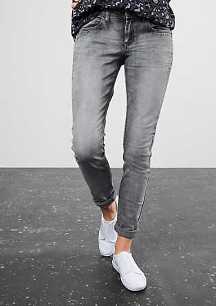 Super slim: grey stretch jeans from s.Oliver