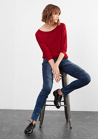Super slim: tinted stretch jeans from s.Oliver