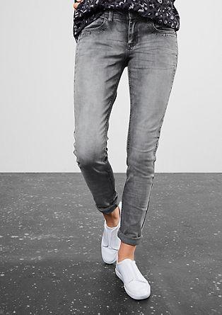 Superslim: Graue Stretch-Jeans