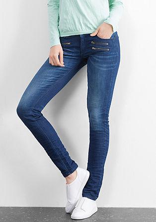 Superslim: jeans hlače z zadrgo