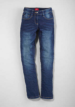 Suri: Blue stretch jeans from s.Oliver