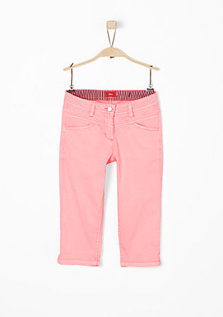 Suri: Capri trousers in a neon colour from s.Oliver
