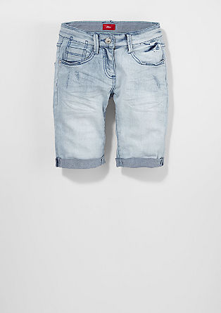 Suri: Pale denim Bermudas from s.Oliver