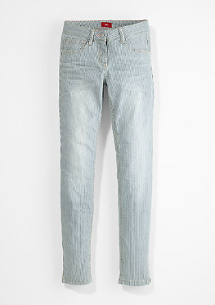 Suri: raztegljive jeans hlače s črtami