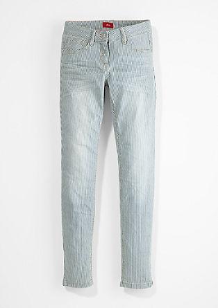 Suri: Stretch-Jeans mit Streifen