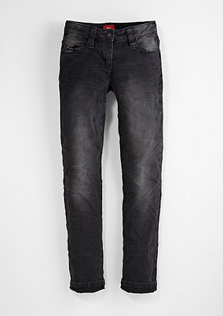Suri slim: coloured stretch jeans from s.Oliver