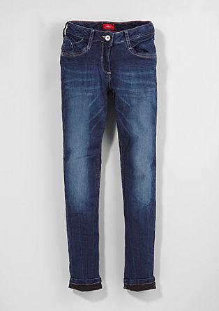 Suri Slim: tople raztegljive jeans hlače