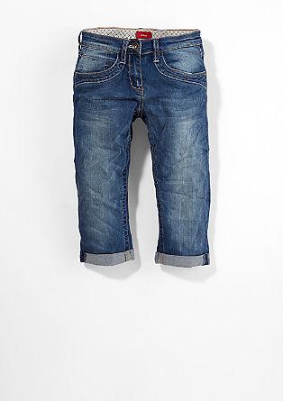 Surie: Capri raztegljive jeans hlače