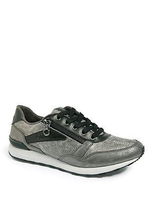 Svetleči športni čevlji iz kombinacije materialov