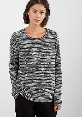 Svetlikajoč se pulover z detajlom bluze