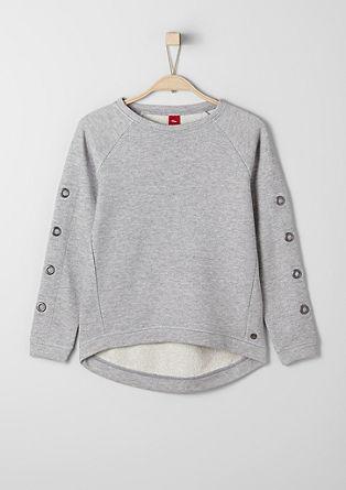 Svetlikajoč sweatshirt pulover s kovicami