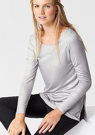 Svetlikajoča se, večslojna majica z dolgimi rokavi