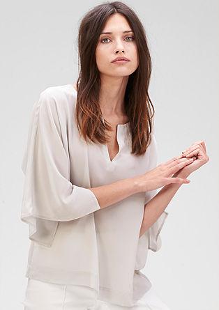 Svilena bluza z netopirskimi rokavi