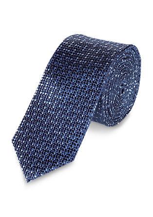Svilena kravata indigo modre barve
