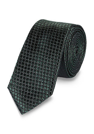 Svilena kravata s tkano strukturo