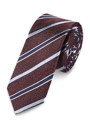 svilena kravata z diagonalnimi črtami