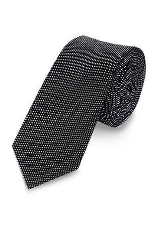 Svilena kravata z vzorcem »sol in poper«