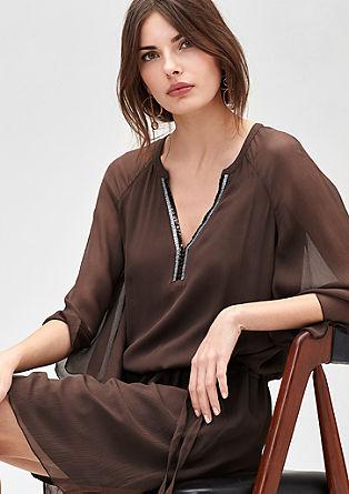 Svilena tunika obleka