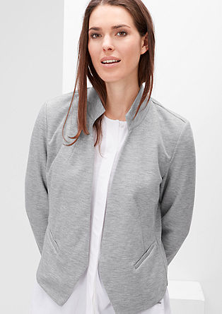 Sweat blazer in a fashionable shape from s.Oliver