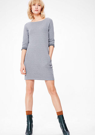 Sweat-Kleid mit Jacquardmuster