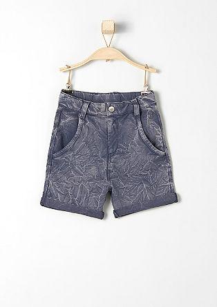 Sweat-Shorts mit Crinkle-Effekt