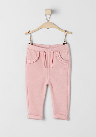 Sweat trousers with glitter from s.Oliver