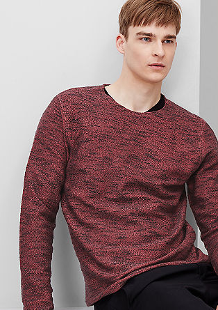 Sweater aus Jersey in Strick-Optik