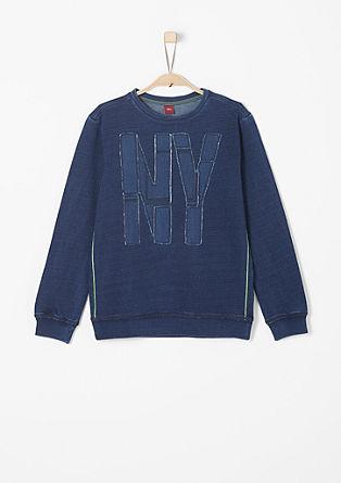 Sweater met applicatie