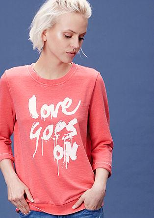 Sweater met een print op de voorkant