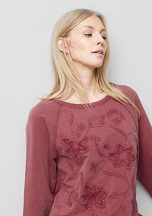 Sweater mit Blumen-Stickerei