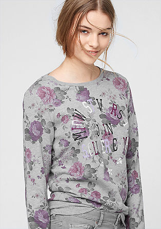 Sweater mit floralem Muster-Print