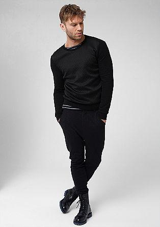Sweater mit geprägter Satin-Front