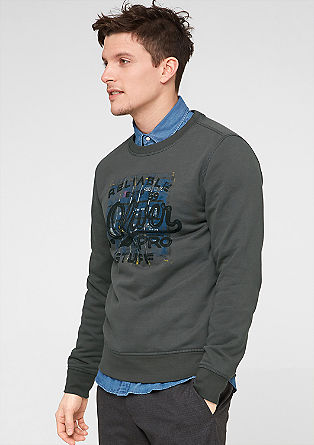 Sweater mit Label-Print