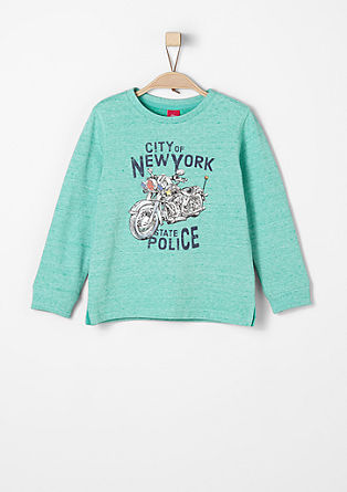Sweater mit Motorrad-Print