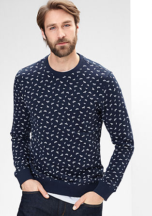 Sweater mit Origami-Print