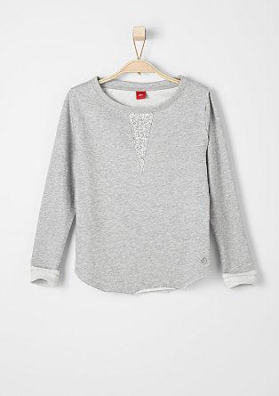 Sweater mit Schmuckstein-Besatz