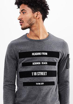 Sweater mit Streifen-Applikation
