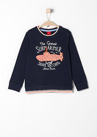 Sweater mit U-Boot-Applikation