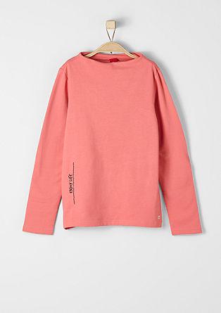 Sweater mit U-Boot-Ausschnitt