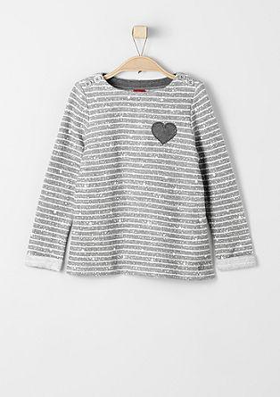 Sweater z zvezdami in s črtami