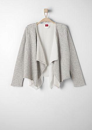 Sweatjacke mit Blusen-Detail